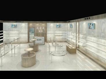 现代木纹展示柜