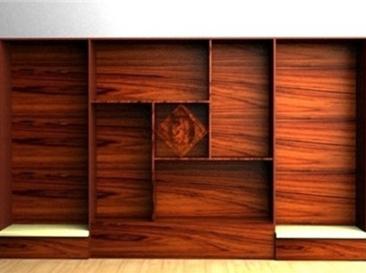 高端木纹展示柜
