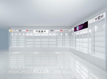 白色手机数码展柜
